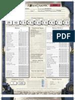 Saggerius Eisenstein, a Rogue Trader Character Sheet