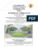 Proceedings of the  National Workshop on  INTRODUCING  YOGA  IN MEDICAL CURRICULUM