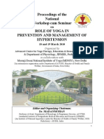 Proceedings of the  National  Workshop cum Seminar  on  ROLE OF YOGA IN  PREVENTION AND MANAGEMENT OF  HYPERTENSION