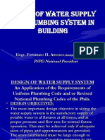 Design of Water Supply for Plumbing
