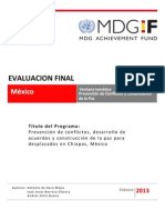 2013 - Mexico - CPPB - Final Evaluation Report