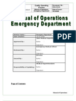 Emergency Department Policy
