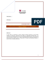 Occasional Paper-commercial Real Estate