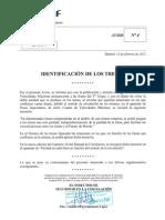 Aviso DSC n 004. Identificación de los trenes. 13-02-12