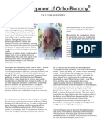 The Development of Ortho-Bionomy