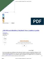 ¿MS-DOS en la BlackBerry PlayBook_ Pues si, también es posible
