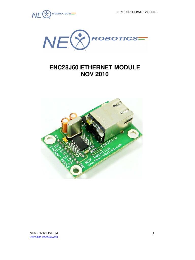 ENC28J60 Ethernet Module | Ethernet | Electrical Connector