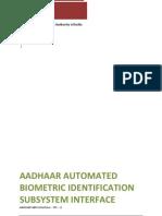 Aadhaar Abis API