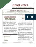 January 2013 Kingdom News Edition