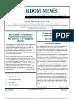 March 2013 Kingdom News Edition