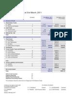 Balance Sheet 11