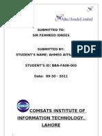 ATLAS HONDA internship report
