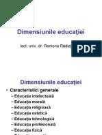 3.1. Dimensiunile educaţiei