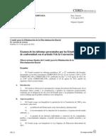 Informe alternativo sobre cumplimiento del Convenio CERD por el estado de Ecuador