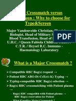 Major Crossmatch Versus TypeScreen