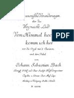 Bach__Von Himmel Hoch Canonci Variations (1st Edition)