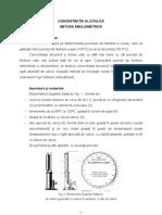 L10 - Determinarea Concentratiei Alcoolice - Ebuliometrie