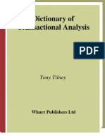 Tony Tilney-Dictionary of Transactional Analysis (Exc Business and Economy (Whurr))-Wiley(2005)
