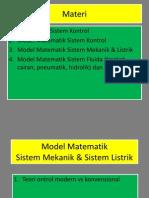 MS-813 Model Matematik Sistem Mekanik