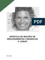 APOSTILA DE NOÇÕES DE PROCEDIMENTOS CIRURGICOS II