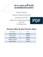 Ferrous Alloys & Non- Ferrous Alloys