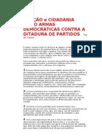 Abstenção - Cidadania - Ditadura de Partidos