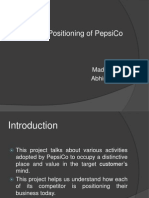Brand Positioning of PepsiCo