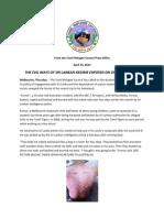 Kumar Torture Exposed Press Release 250413