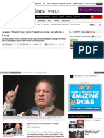Nawaz Sharif may give Pakistan-India relations a boost