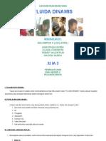 Laporan Praktikum Fisika 'Fluida Dinamis' XI IA 3 Kelompok 8 Anastasia Evira, Clara Corinsta, Febry Valentius Hasymi Surya. 2009.