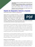 Hipatia de Alejandría, Historia y Leyenda