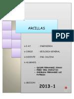 INFORME N° DE ARCILLAS
