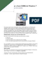 Como Restaurar o Boot (MBR) Do Windows 7