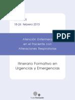 Atención Enfermera en el Paciente con Alteraciones Respiratorias