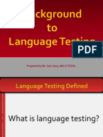 Unit 1-Background to Language Testing