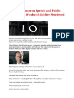 PM David Cameron Speech and Public Reaction on Woolwich Soldier Murdered (23 May 2013)