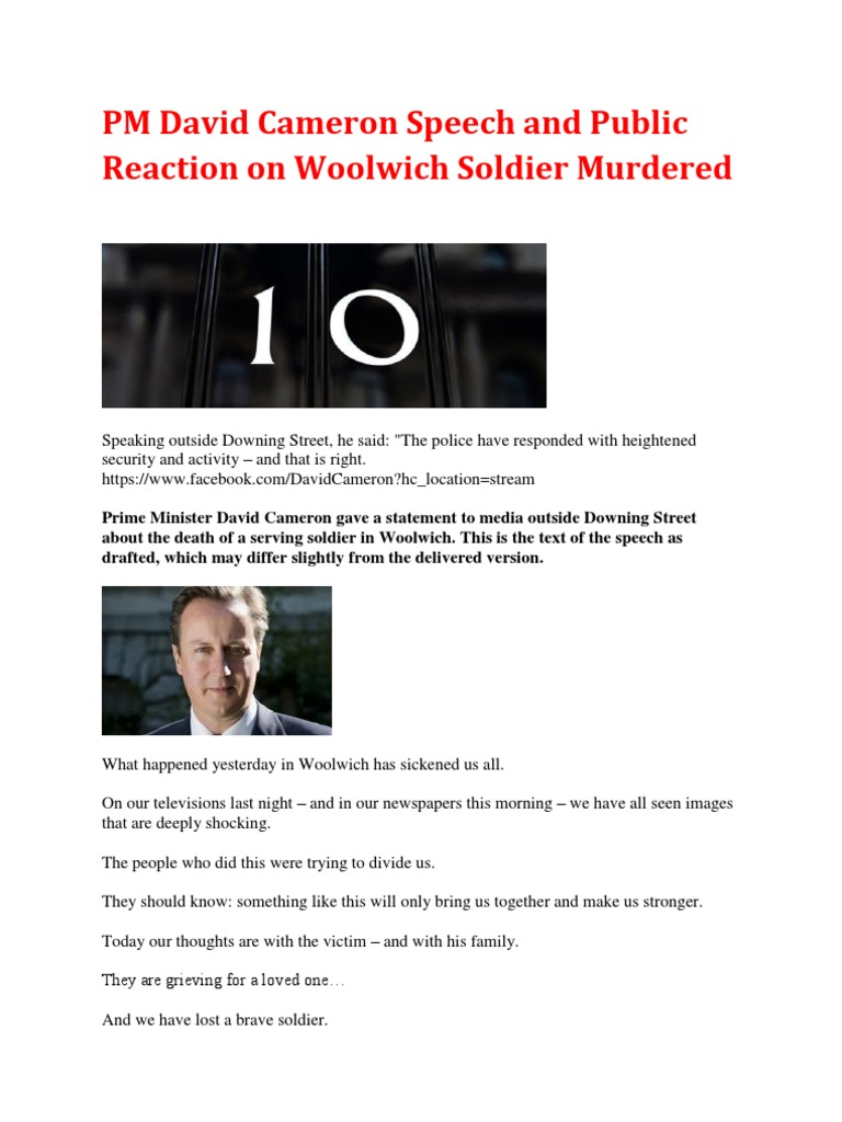 Pm David Cameron Speech And Public Reaction On Woolwich Soldier Tendencies Tshirt Pluto Sucks Hitam L Murdered 23 May 2013 Politics
