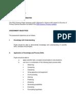 Pri Science Exam Format