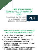 Como Tener Agua Potable y Desague y Luz en 30 Dias en Peru