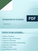 Basics of Planning