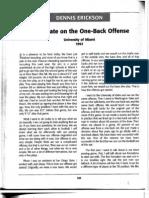 Dennis Erickson - One Back Offense