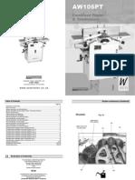 Manual Aw106pt Planer