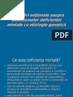 Clarificări noționale asupra sindroamelor deficienței mintale cu