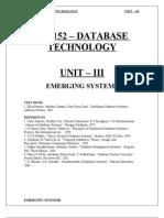 database technology unit 3 pdf for pg students
