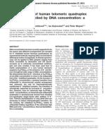 Polymorphism of human telomeric quadruplex structure