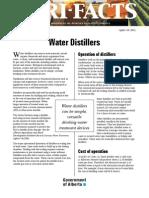 Distillation Water System