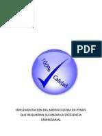 Implementacion Del Modelo Efqm en Empresas Exportadoras Que Requieran Alcanzar La Excelencia Empresarial