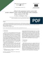 Calvar_Vapor-Liquid Equilibria for the Quaternary Reactive System Ethyl