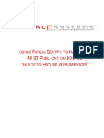 FS Whitepaper Using Forum Sentry to Accomplish NIST Guide to Securing Web Services