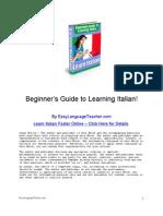 Learning Italian - Learn to Speak, Write and Understand Italian